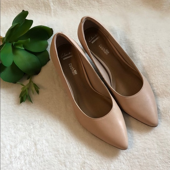 63eccd063ec Clarks Shoes - NWT Clark s Crewso Wick Nude Pink Pumps Size 6